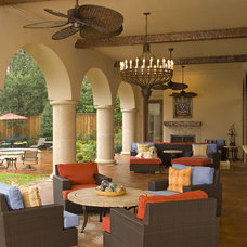 Mediterranean Patio by Astleford Interiors, Inc.