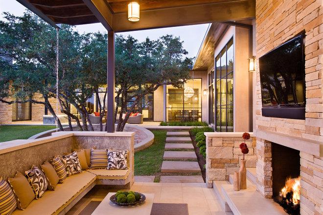 Contemporary Patio by Shoberg Custom Homes