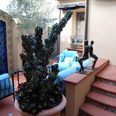 Mediterranean Patio by Connie McCreight Interior Design