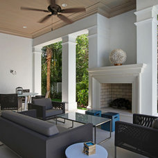 Transitional Patio by Albanese Builders