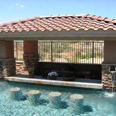 Traditional Patio by Shasta Pools and Spas