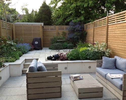Split level garden home design ideas renovations photos for Split level patio