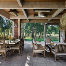 Farmhouse Patio by Locati Architects