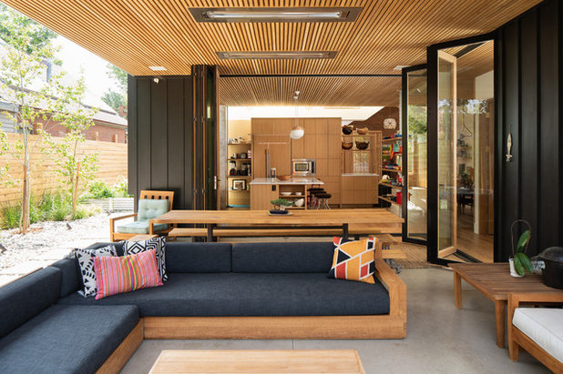 Midcentury Patio by Dane Cronin Photography