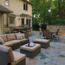 Traditional Patio by Jacobs Grant Design ltd