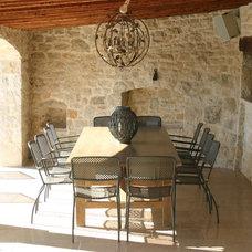 Mediterranean Patio by Rachel Angel Design