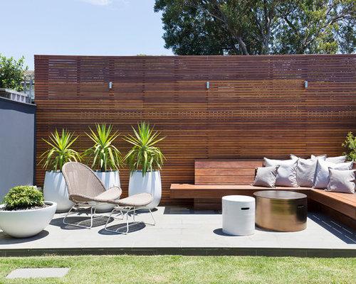 Patio   Mid Sized Midcentury Modern Backyard Concrete Paver Patio Idea In  Sydney
