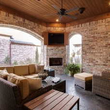 Transitional Patio by Atwood Custom Homes