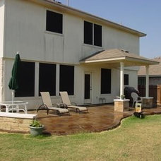 Traditional Patio Stained concrete patio
