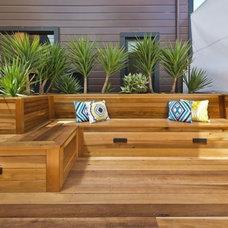 Modern Patio by Artisian Construction
