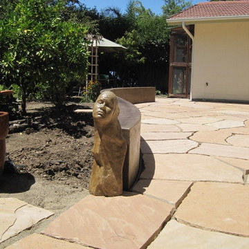 Staining Concrete - LastiSeal Stain & Sealer Applied to Flagstone Patio