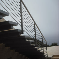 Contemporary Patio by Skyhook Stairs and Rails