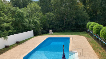 Stamp Concrete Pool Deck in Hockessin