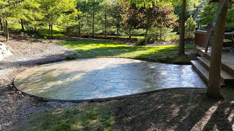 Stamped and Colored Concrete - recent pour for a great customer!