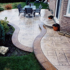Contemporary Patio by stamp concrete  Who & What We Do 905 782-6722