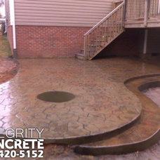 Traditional Patio by Integrity Concrete, LLC