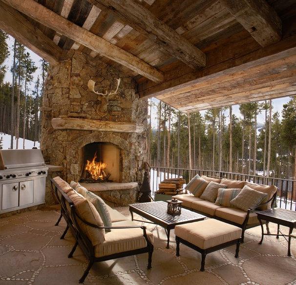 Rustic Patio by Rockridge Building Company