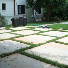 Contemporary Patio by ARNOLD Masonry and Landscape
