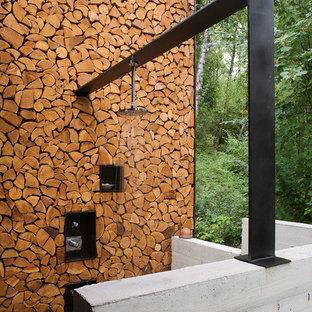 Immagine di un patio o portico stile rurale con nessuna copertura