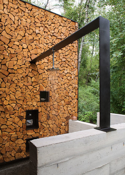 Outdoor-Badezimmer: Wellness unter freiem Himmel