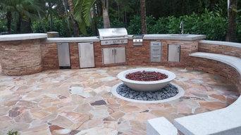 Stone Kitchen & Stone Bench