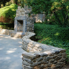 Eclectic Patio by Keith Childs Masonry