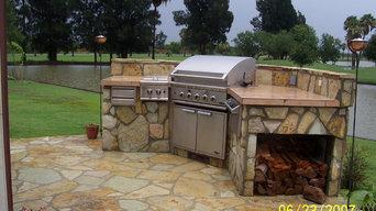 Stone Patio and Barbecue