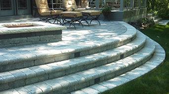 stone patio & maintenance free deck