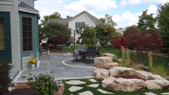 Stone Patio & Water Feature