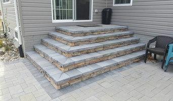 Stone Patio Stairs