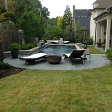 Contemporary Patio by MorGreen Nursery and Landscape