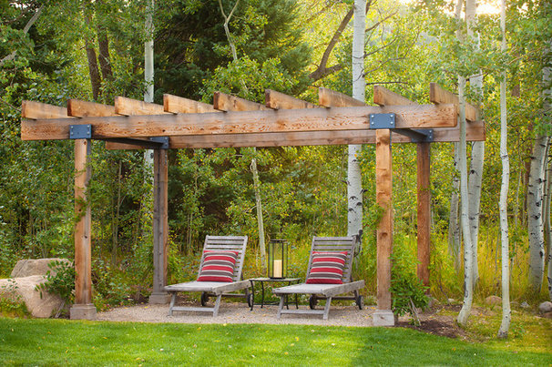 Rustic Patio by WEST ELEVATION ARCHITECTS INC