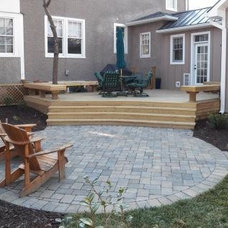 Traditional Patio by Virginia Tradition Builders LLC
