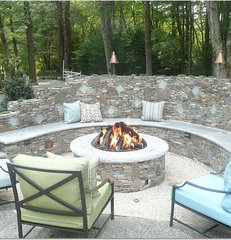eclectic patio by Leslie Saul & Associates