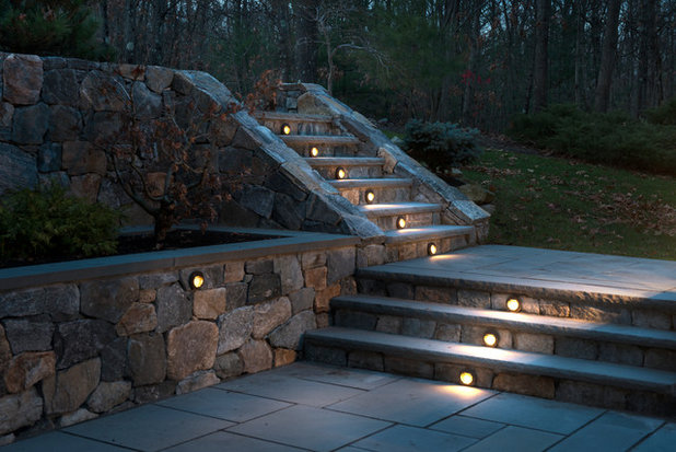 lighting steps. traditional patio by pinney designs lighting steps