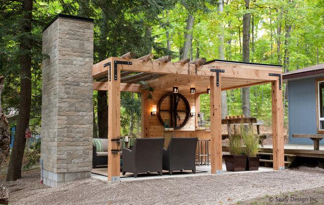 Contemporary Patio by Sealy Design Inc.