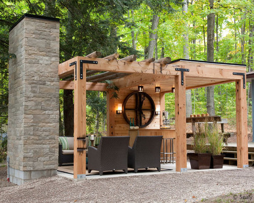 Modern pergola home design ideas pictures remodel and decor for Pergola images houzz