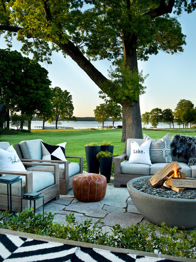 Transitional Patio by PROjECT interiors + Aimee Wertepny
