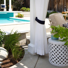 Beach Style Patio by Talianko Design Group, LLC