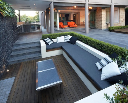 Sunken seating houzz for Sunken outdoor seating