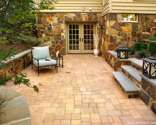 Landscaping A Walkout Basement Patio Design Ideas ... on Walkout Patio Ideas id=71554