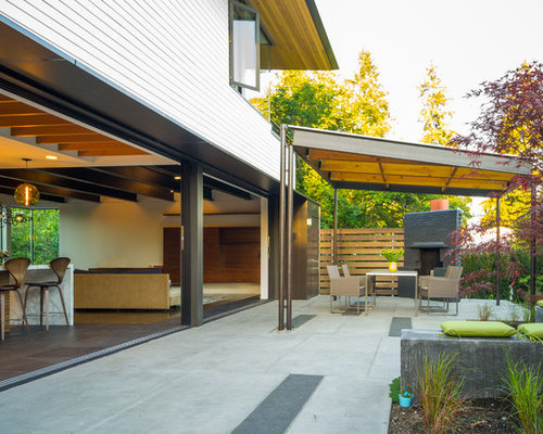 Inspiration For A Contemporary Courtyard Patio Remodel In Seattle With A  Gazebo