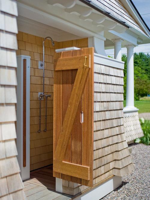 Outdoor shower fixture home design ideas pictures - Outdoor shower enclosure ideas ...