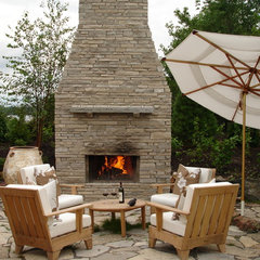 eclectic patio by David Nosella Interior Design