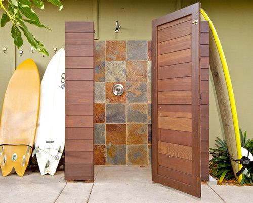 Coastal Outdoor Patio Shower Photo In San Diego