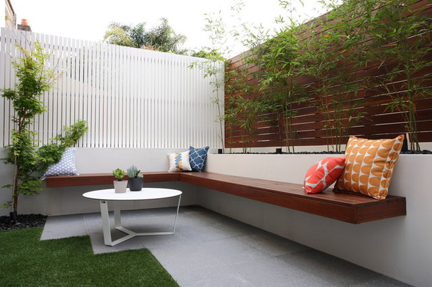 Contemporary Patio by Custom Creations Landscapes