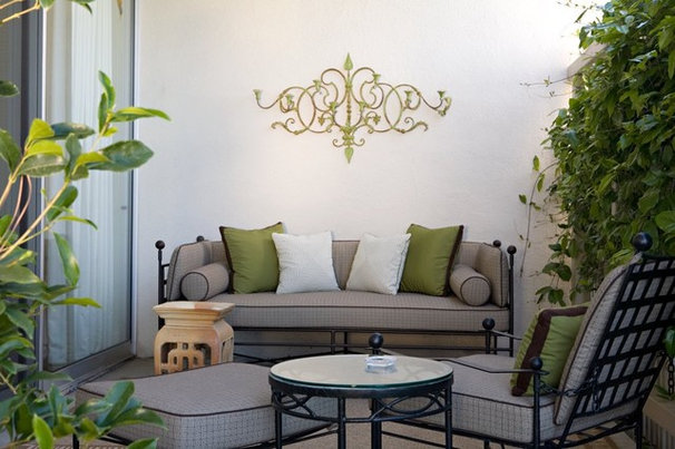 Transitional Patio by Elizabeth Dinkel