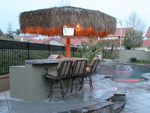 Traditional Patio by Swan Pools Southern California