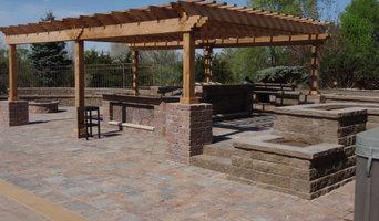 Swimming Pool Deck with Outdoor Kitchen & Pergola -   Lincoln, NE.