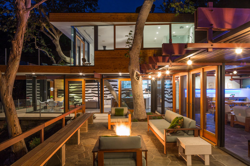 Contemporary Patio by ANX / Aaron Neubert Architects